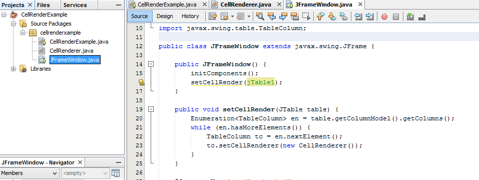 Cambiar el color de las filas de una tabla en Java
